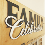 Family Personalised Celebration Boards