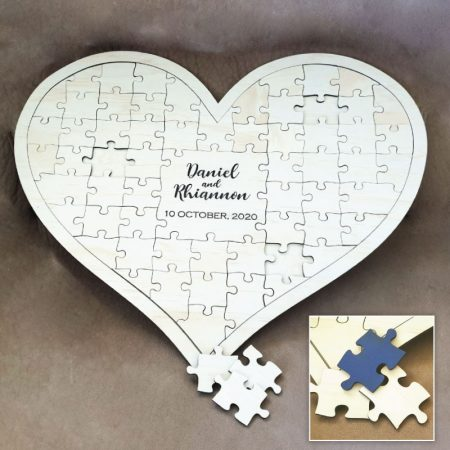 Wedding Guest Book – Heart Puzzle
