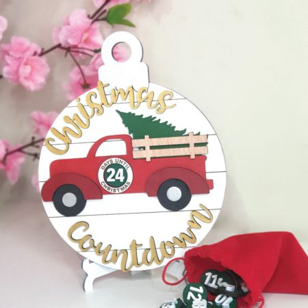 Vintage Truck Christmas Countdown